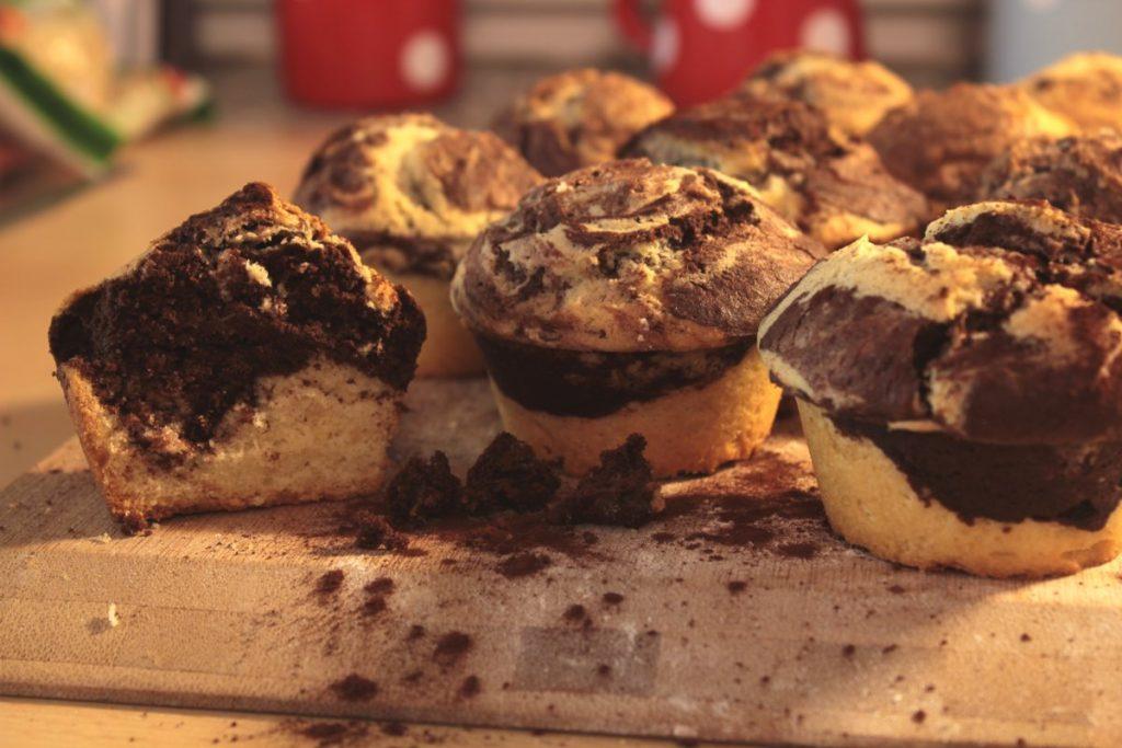 Dinkel Marmor Kuchlein Und 12 Muffins Preppie And Me
